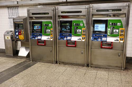 Distributori automatici metropolitana di New York