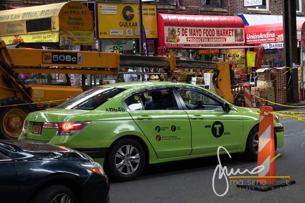 Green Boro Taxi a New York