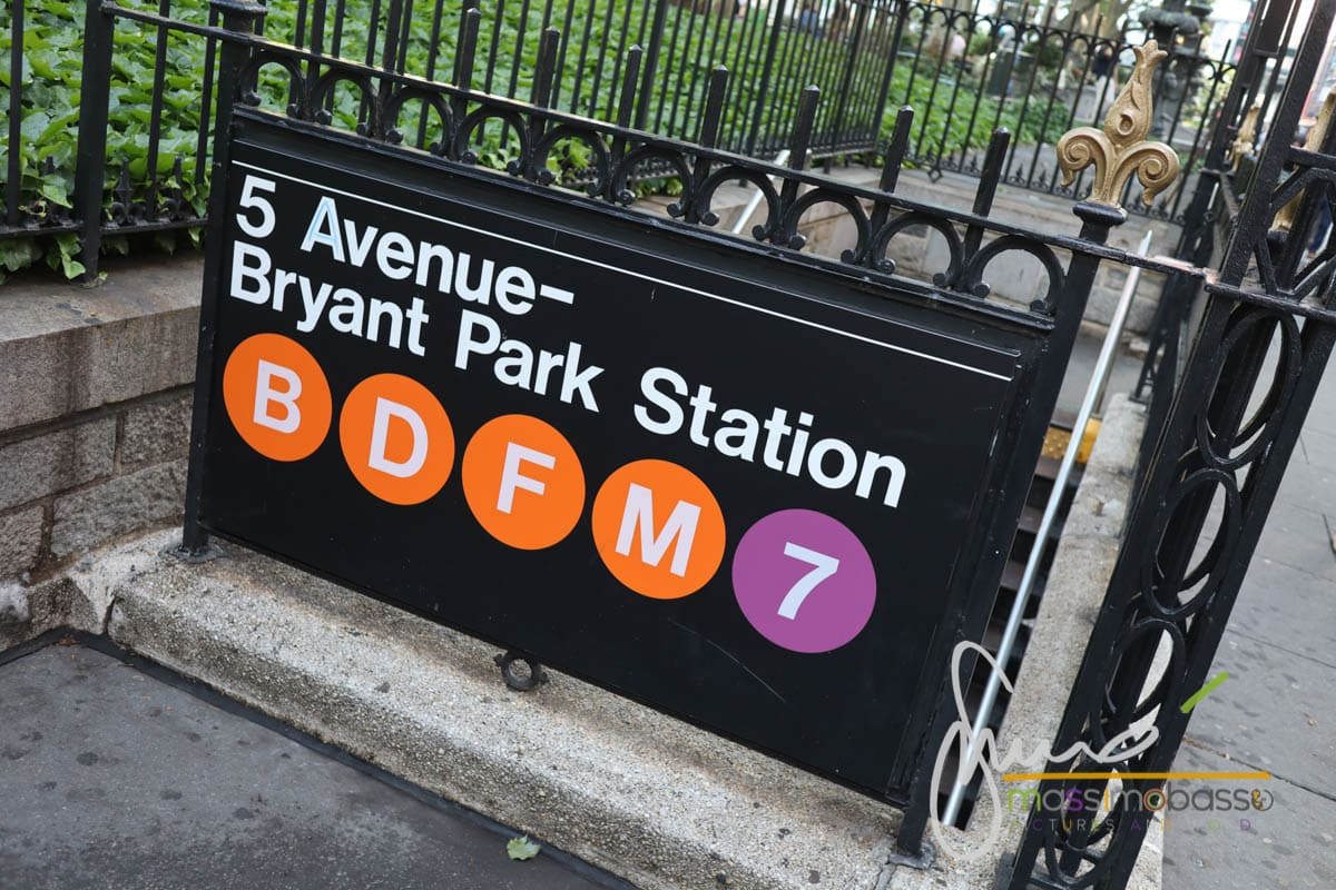 Metropolitana di superficie - Bryant Park