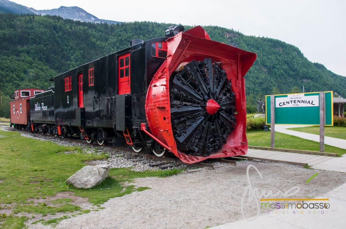 Il treno del White Pass Yukon Route a Skagway nell'Inside Passage