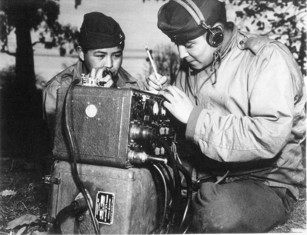 Navajo Code Talkers in azione