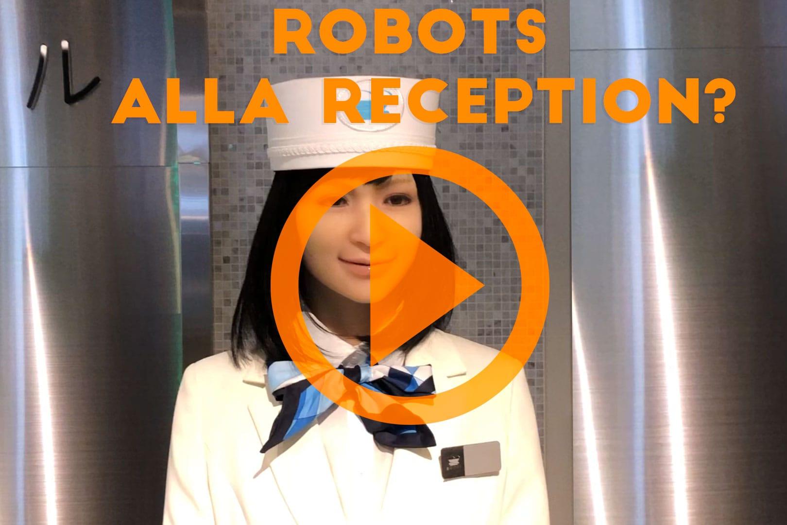 robots alla reception in Giappone